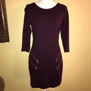 Express Maroon mini dress